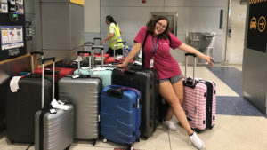 Student in tourism before study abroad trip