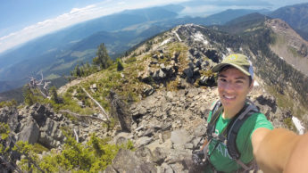 Student hikes while studying abroad