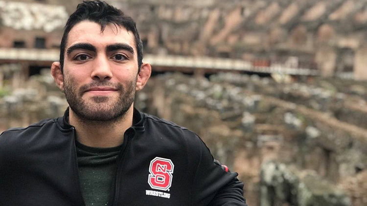Studnet Sam Melikian, who after graduation is mixing fields and materials in a paper mill