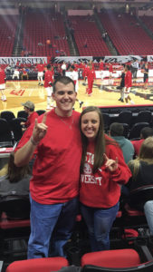 Students at NCState basketball game