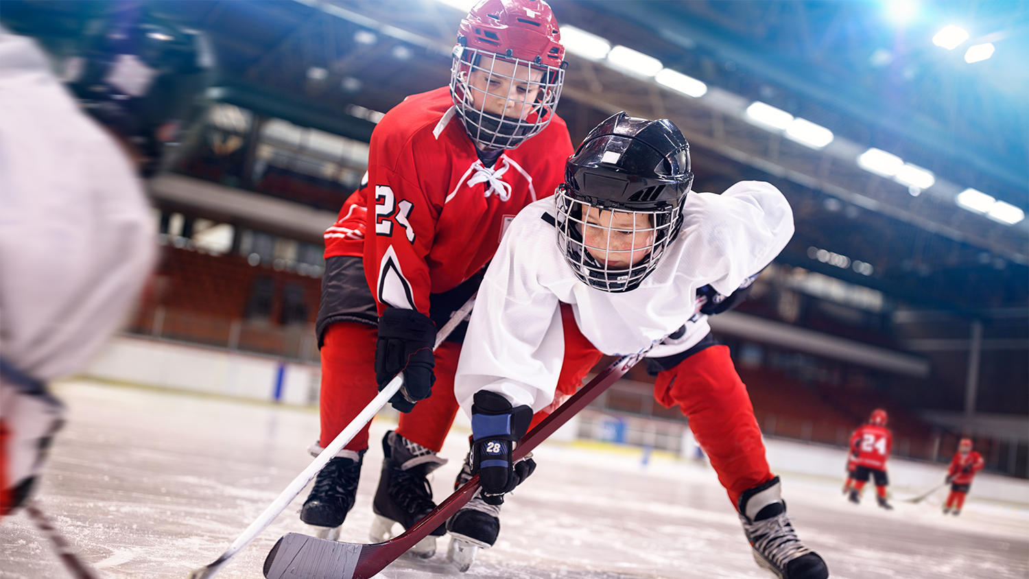 kids play hockey