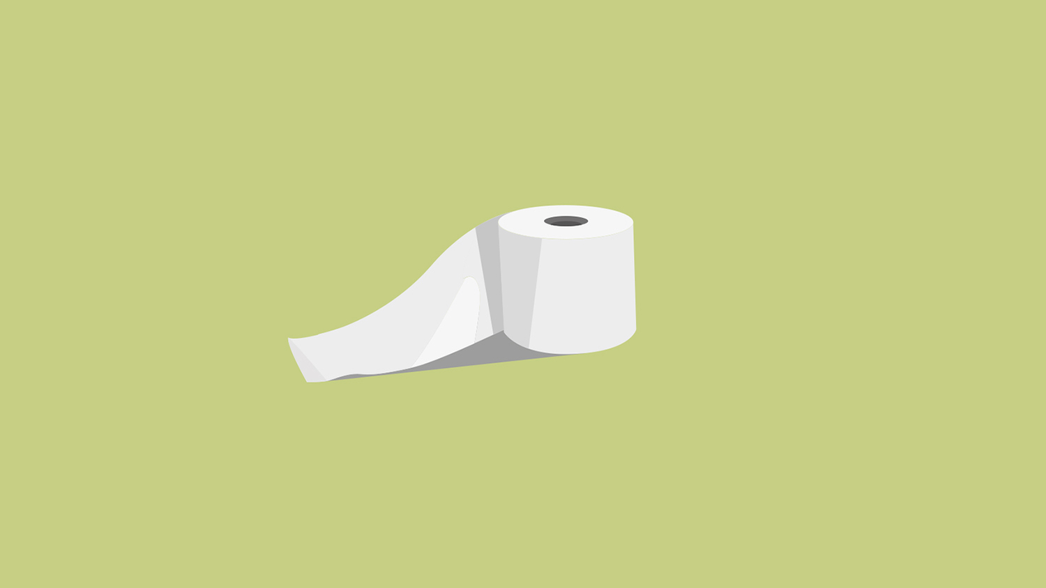 This illustration shows a roll of toilet paper