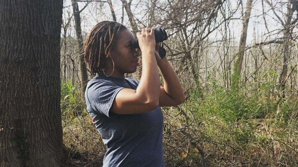Deja Perkins, a master's student in the College of Natural Resources.