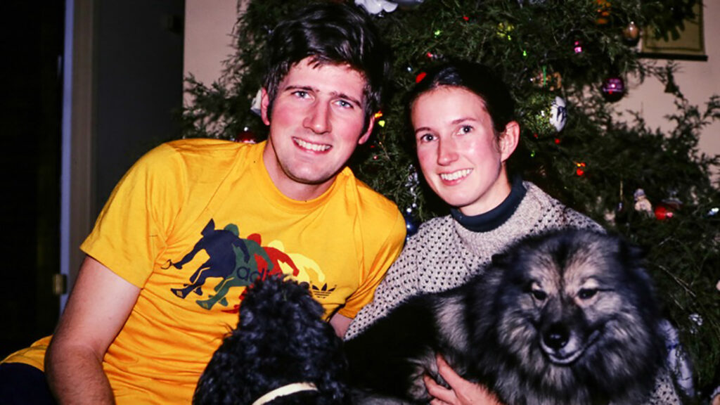 Tom and Ellen Davidson pictured with their dogs