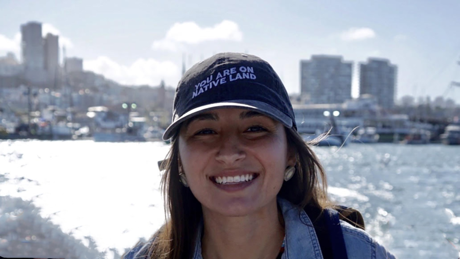 Jocelyn Painter on boat - NC State Student Brings Indigenous Knowledge to State Climate Policies - NC State University College of Natural Resources Department of Forestry and Environmental Resources