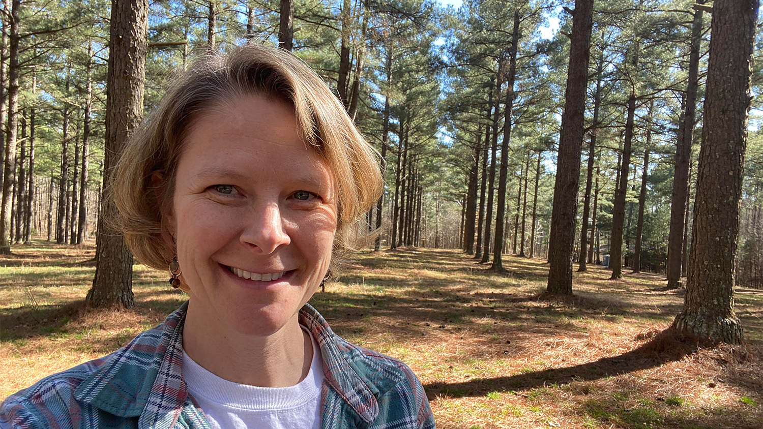 Elizabeth poses in Schenck Forest - Women in Natural Resources: Forest Manager Elizabeth Snider - College of Natural Resources News NC State University