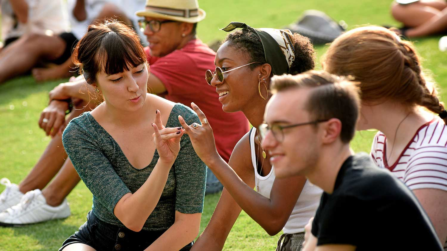 Students Sitting on the Grass - Organizations and Clubs - Parks Recreation and Tourism Management NC State