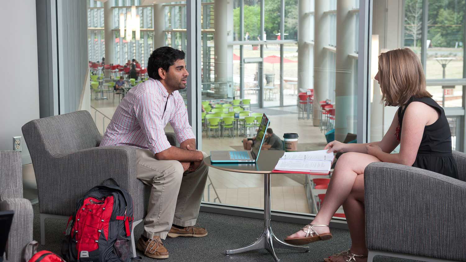 Two People Having a Discussion - Graduate Support -Parks Recreation and Tourism Management NC State