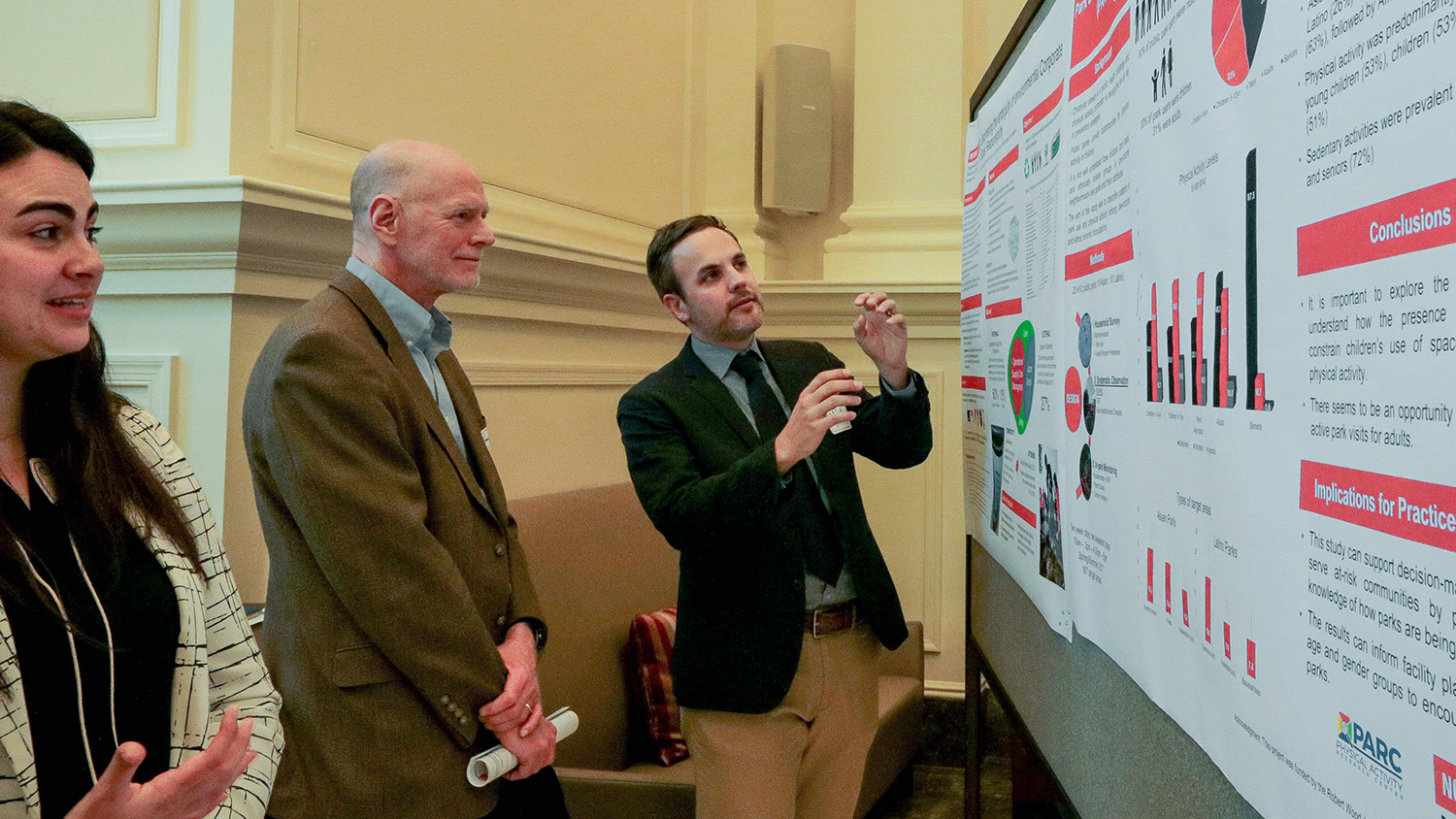 People Looking at a Visual - Graduate Student Resources -Parks Recreation and Tourism Management NC State