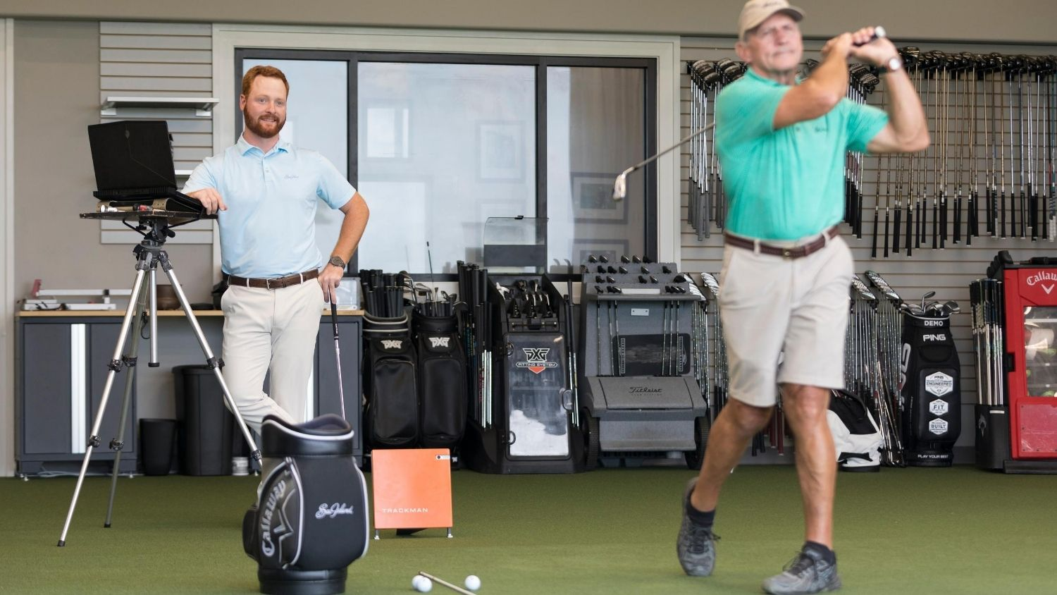 Ben Freundt Fitting a Club - PGA Golf Management - Parks Recreation and Tourism Management NC State