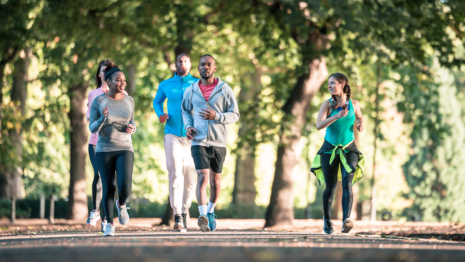 Runners in a park - Parks Recreation and Tourism Management NC State University