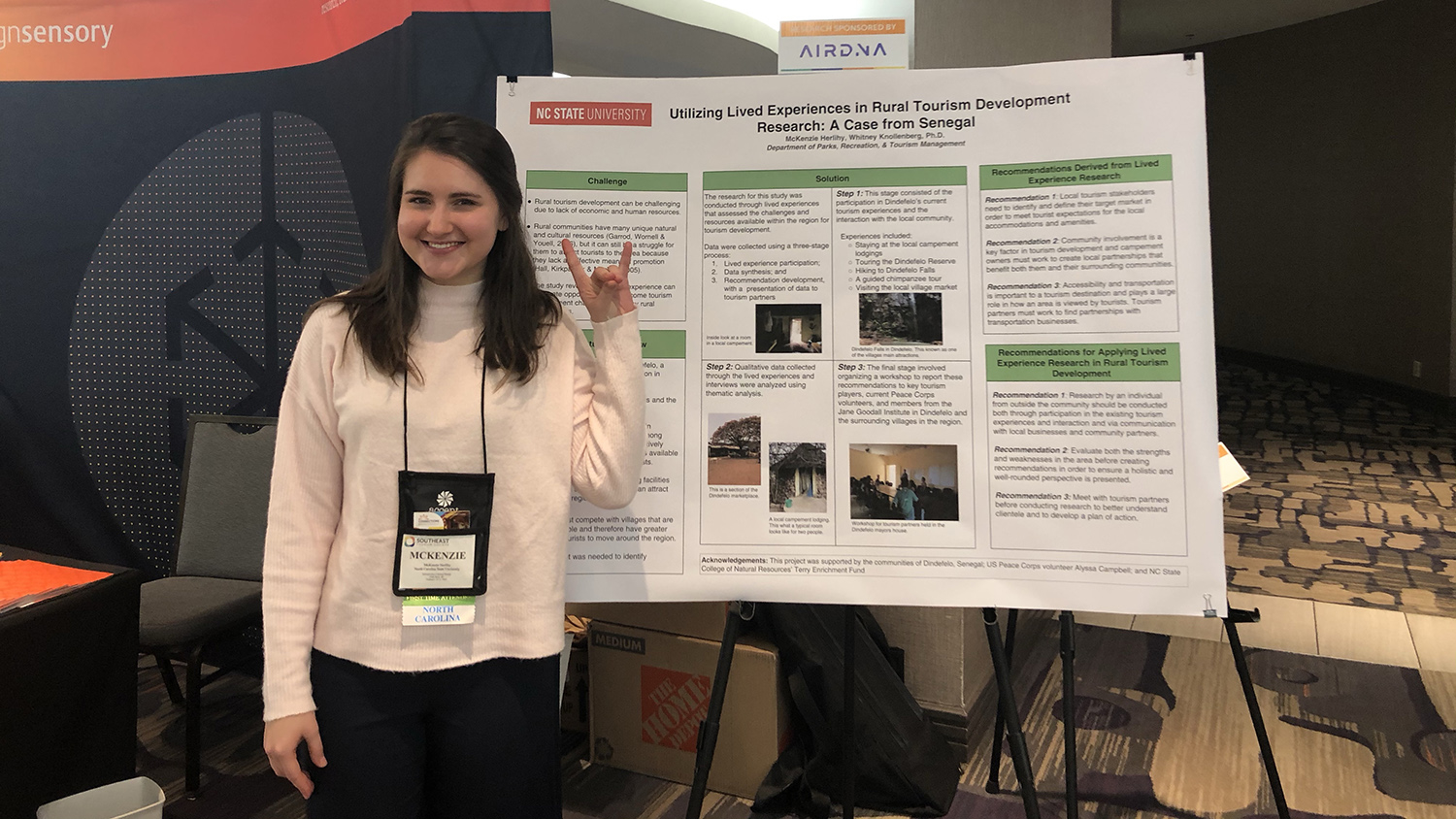 McKenzie Herlihy - Parks, Recreation, and Tourism Management at NC State University