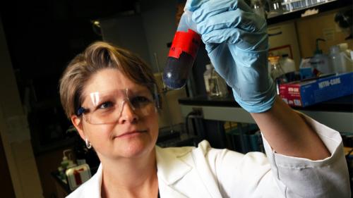 Elizabeth Nichols in lab