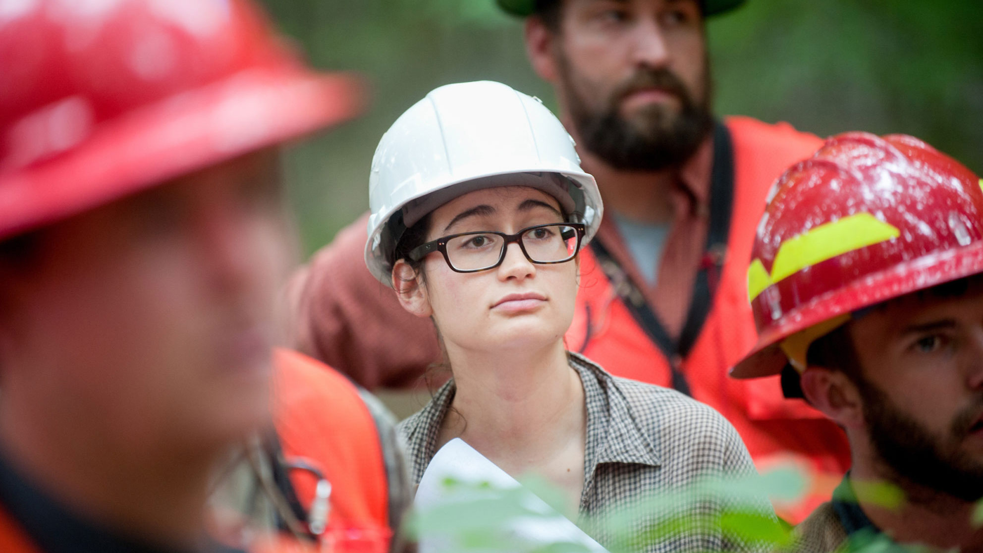 Students at forestry summer camp - Think and Do the Extraordinary -College of Natural Resources NC State University
