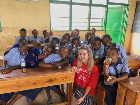 Allie teaches in Africa - College of Natural Resources at NC State University