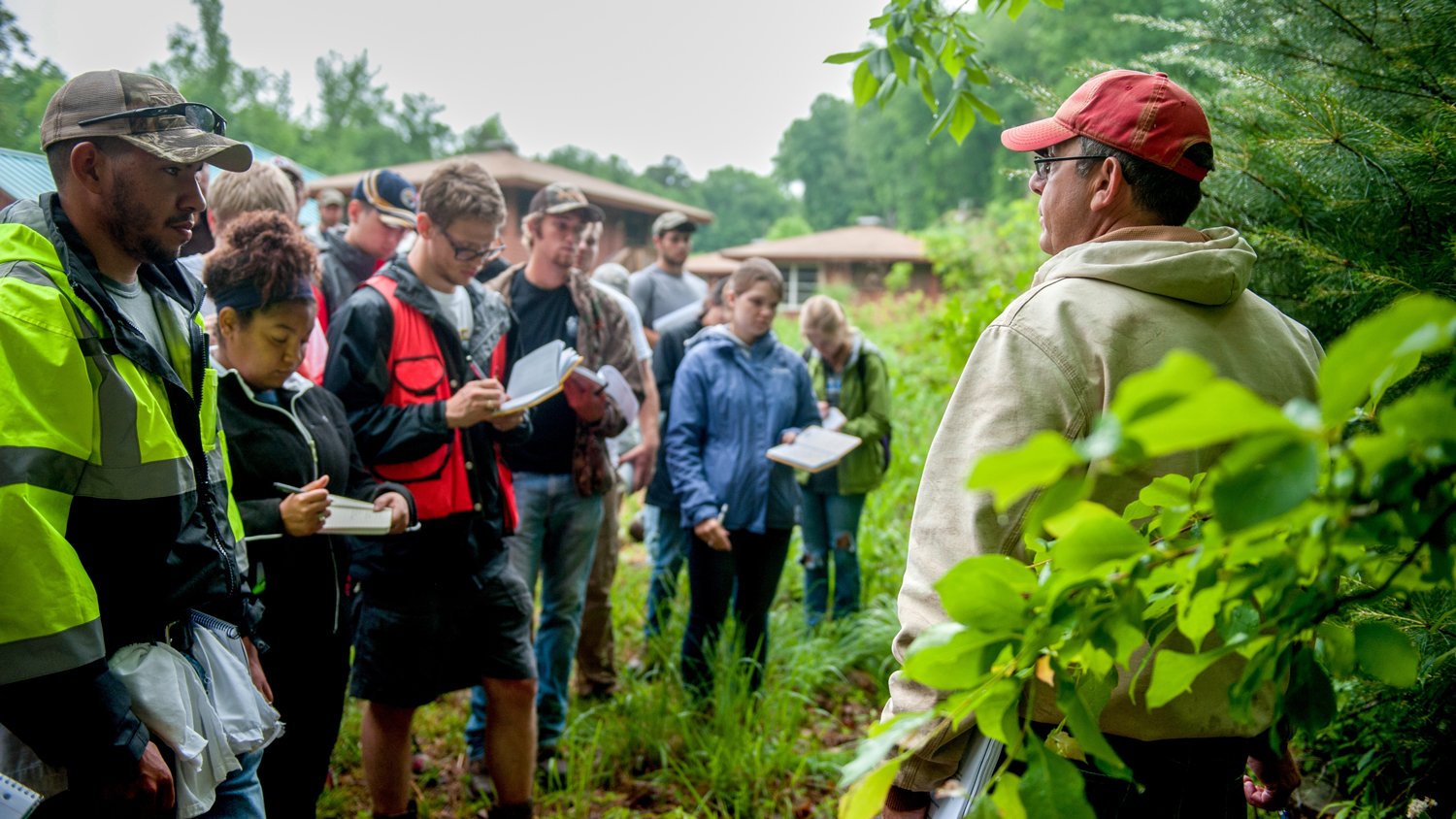 Students with faculty in the field - Academics - College of Natural Resources at NCState University
