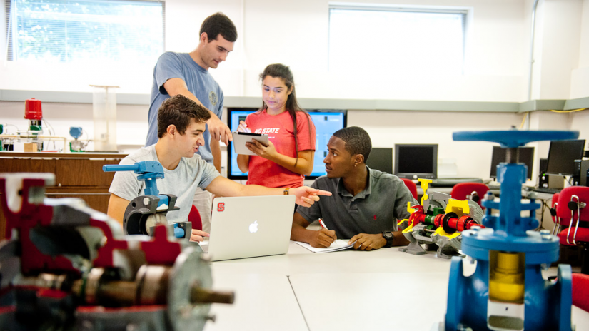 Students working Together - Paper Science and Engineering - College of Natural Resources at NCState University