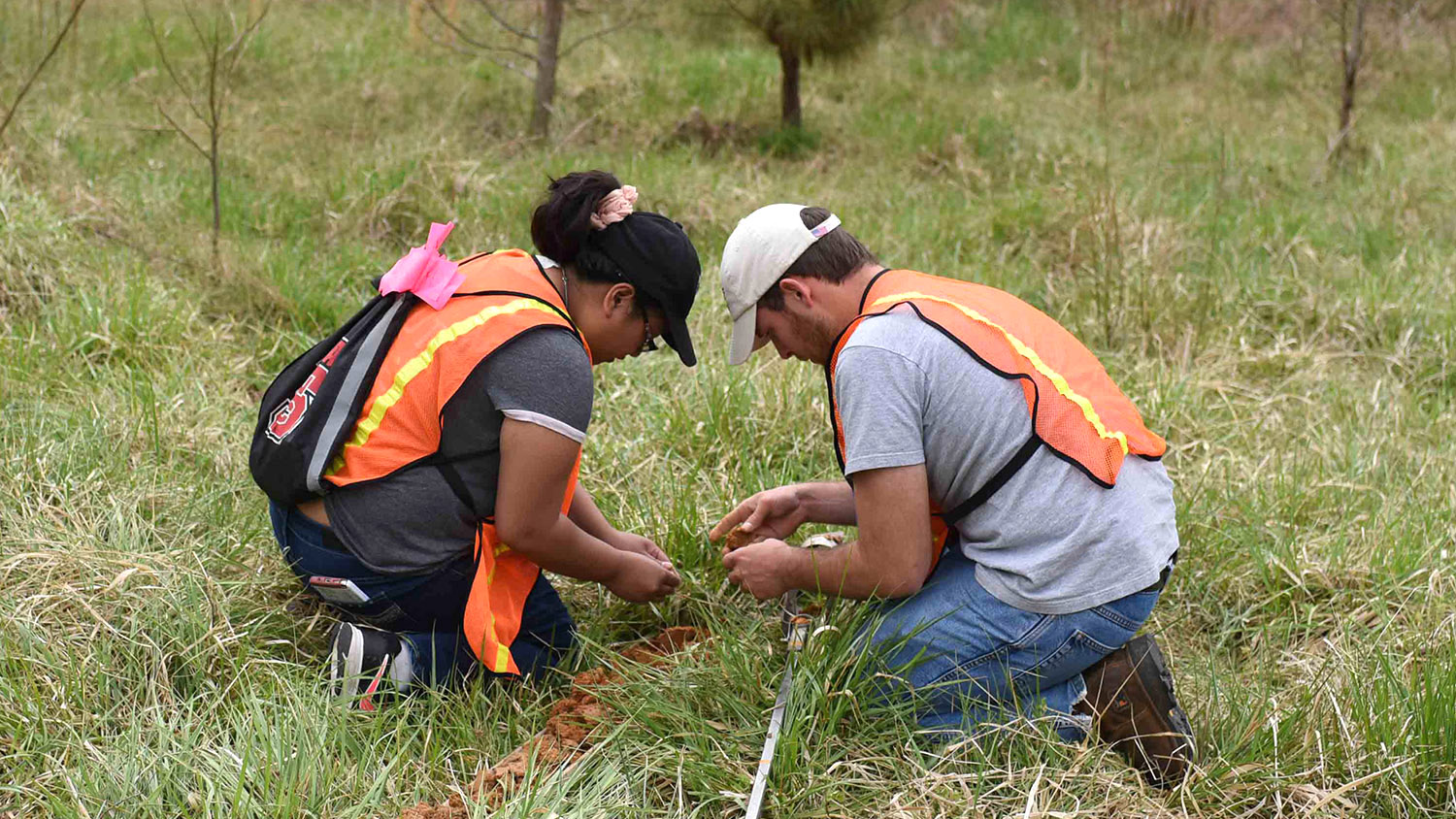 Students Working Outdoors - Research - College of Natural Resources NCState University