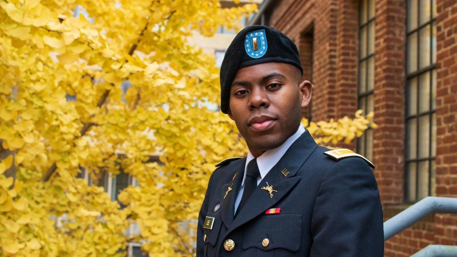 Teshawn Lee in Uniform - Five Questions with Second Lieutenant Teshawn Lee, College of Natural Resources, Teshawn Lee, feature - College of Natural Resources at NCState University