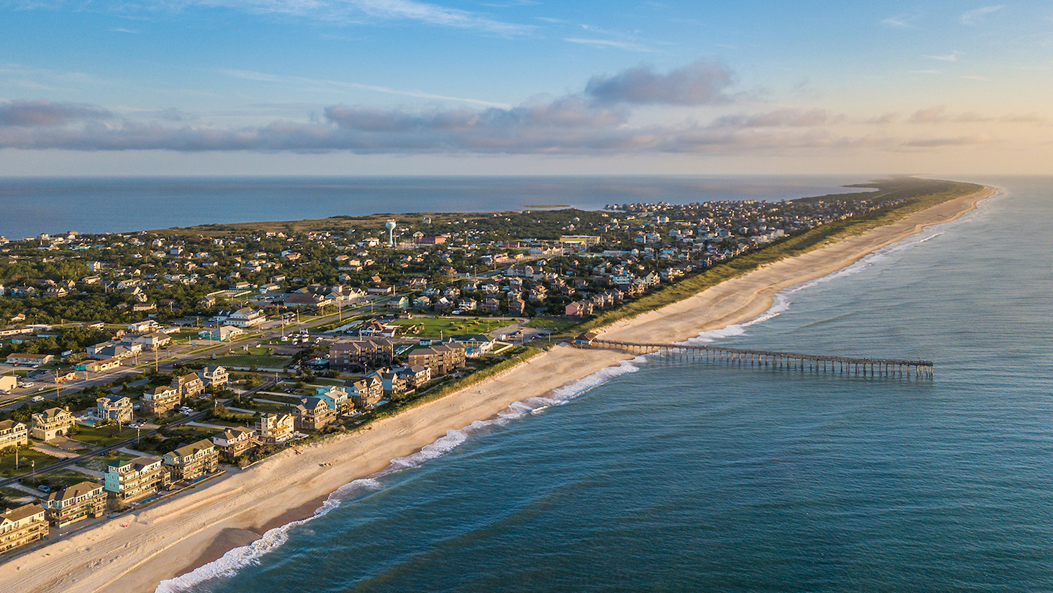 Aerial image of the Outer Banks - New Partnership Aims to Ensure a Sustainable Future for the Outer Banks of North Carolina - College of Natural Resources at NC State University