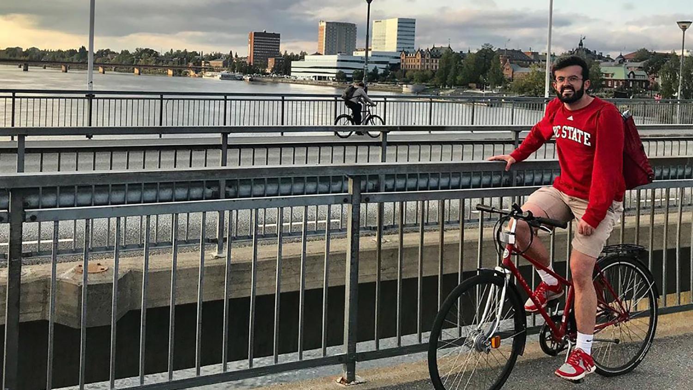 Giacomo on Bike - Meet Giacomo Fagan -College of Natural Resources at NCState University